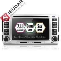 Isudar Автомобильный мультимедийный плеер 2 din для автомобиля, DVD android 7.1.1 6,2 дюймов для HYUNDAI/SANTAFE/SANTA FE 2006 2012 радио 4 ядра 4G FM gps