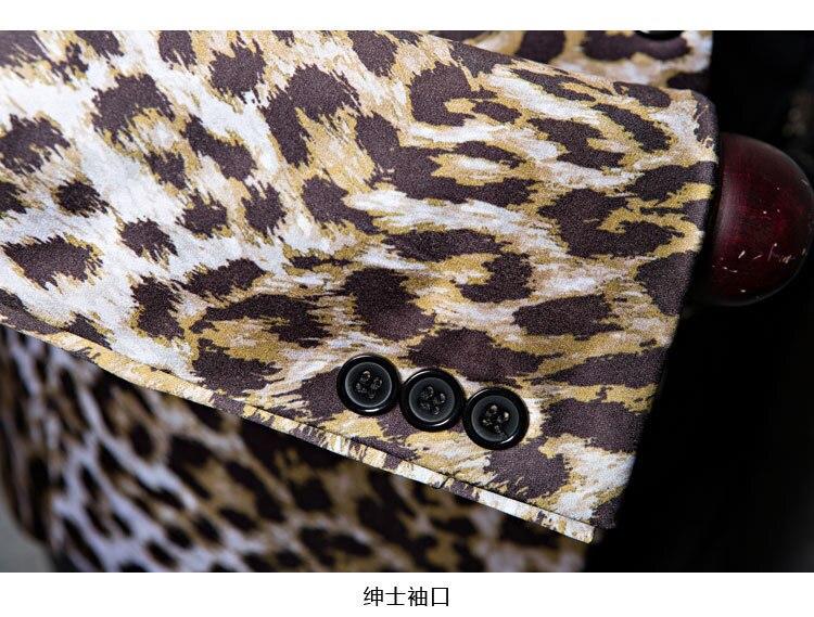 PYJTRL Brand M-5XL Tide Men Leopard Print Fashion Leisure Blazer Masculino Slim Fit Suit Jackets For Men Singer Costume Homme