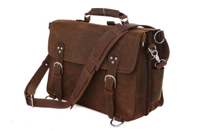 Envío gratis Crazy Horse Cow Boy estilo del viaje del equipaje para hombre de tamaño grande bolso que viaja 2013 venta caliente #7161R