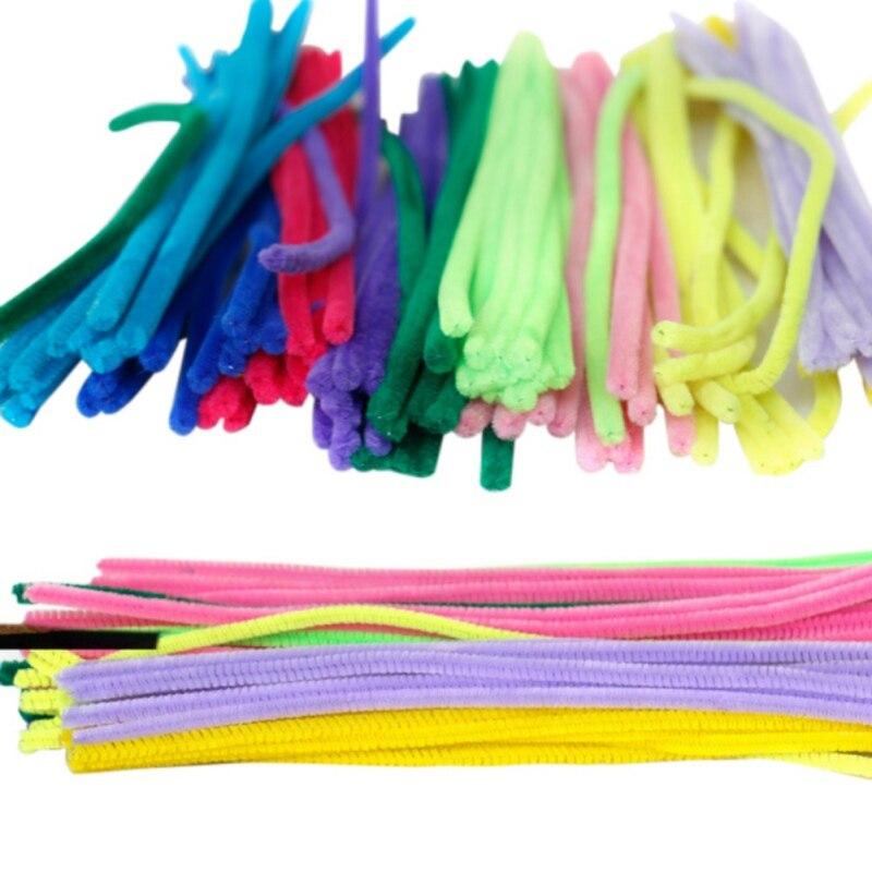 Festliche & Party Supplies Stetig 100 Stücke Gemischt Plüsch Eisendraht Flexible Beflockung Handwerk-sticks Rohr Reiniger Kreativität Entwickeln Kind-spielwaren Party Decor