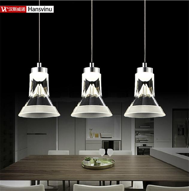 2016 novo 3*3 W Energy-Saving LED Acrílico Luzes, iluminação da sala de jantar moderna Lâmpada levou Para Casa Iluminação da decoração