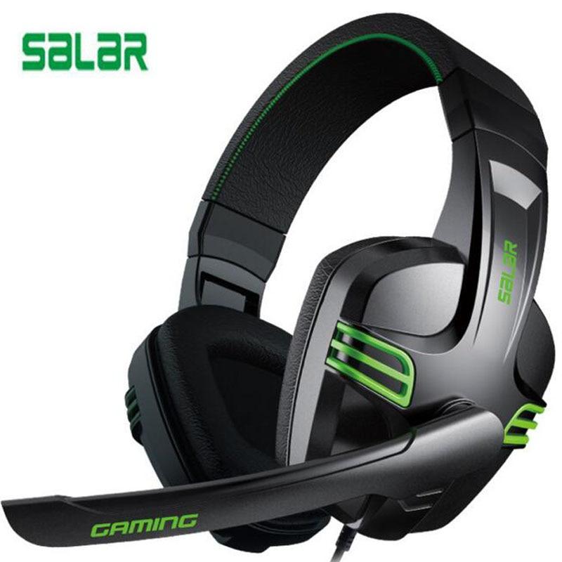 Ihens5 ordenador de la moda Stereo Gaming auriculares Salar KX101 mejor casque bajo profundo juego de auriculares con micrófono para PC Gamer