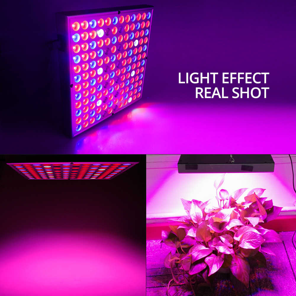 Светодиодный светильник для выращивания растений, полный спектр, 45 Вт, переменный ток, 85-265 в, Фито лампа для растений, цветов, саженцев, 144 светодиодный светильник для выращивания в помещении, набор вешалок