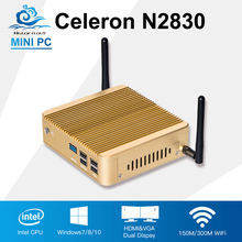 2017 Mini PC Celeron N2830 Game computer Minipc TV box usb3.0 wifi 8G Ram 64G SSD Office Destop Win7