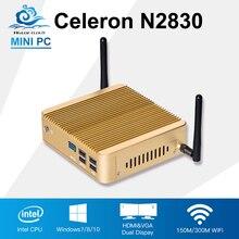 2017 Mini PC Celeron N2830 Game computer Minipc TV box usb3.0 wifi 8G Ram 64G SSD Office Destop Windows 7