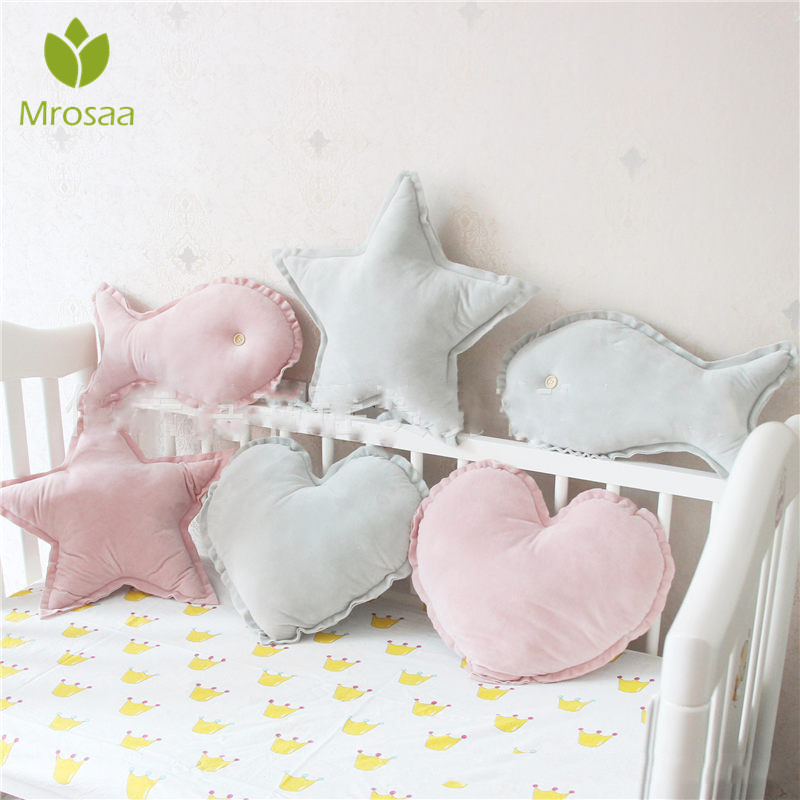 INS Plush Ball Pillow Cushion Home Decoration Throw Pillow Star Love Fish Shape Cushions Birthday Gift Sweet Princess Pillow