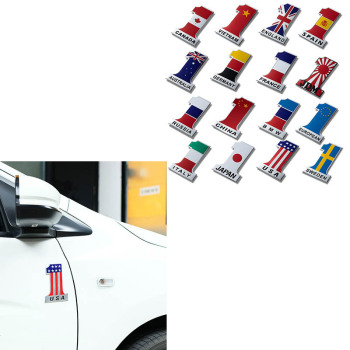 NO.1 Flag Car Styling 3d Metal Emblems Sticker For BMW E46 E90 E60 E36 F20 X5 x6 Ford Focus 2 3 1 Peugeot 206 307 308 3008 Saab image