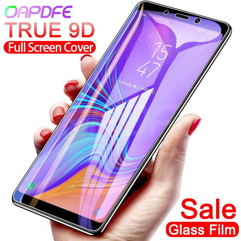 9D Protective Glass On The For Samsung Galaxy A3 A5 A7 2016 2017 A6 A8 Plus 2018 S7 Tempered Screen Protector Glass Film Case