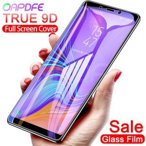 Image 1 - 9D verre de protection sur le pour Samsung Galaxy A3 A5 A7 2016 2017 A6 A8 Plus 2018 S7 étui de protection décran en verre trempé