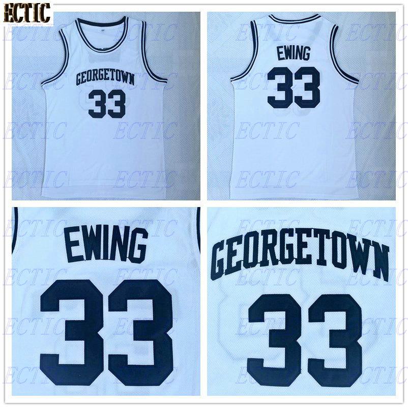 74f43789bcee Cheap Mens Patrick Ewing 33  Georgetown University Basketball Jerseys  Throwback Stitched Commemorative Retro Good Quality Shirts