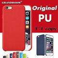 GRANDBOOM Oficial Original com LOGO 1: 1 pu leather case capa para apple iphone 7 plus 6 6 s 5 5S se 4.7 5.5 polegada de alta qualidade