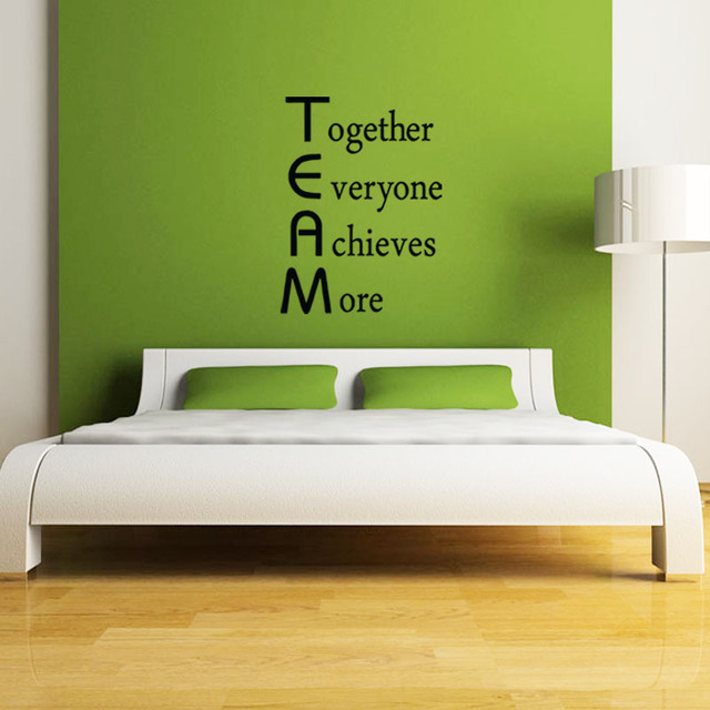 Team Motivational Quote Office Wall Sticker , Together Everyone Achieves  More Inspirational Vinyl Decal Office Wall