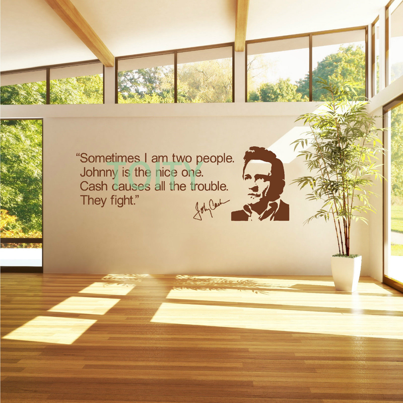 Johnny Cash QUOTE Wall Room Decor Art Vinyl Decal Music Celebrity ...