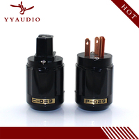 New P 029 Brass Copper US Power Plug Connector Black Hifi Sonar Plug Highend Sonarquest Sonar