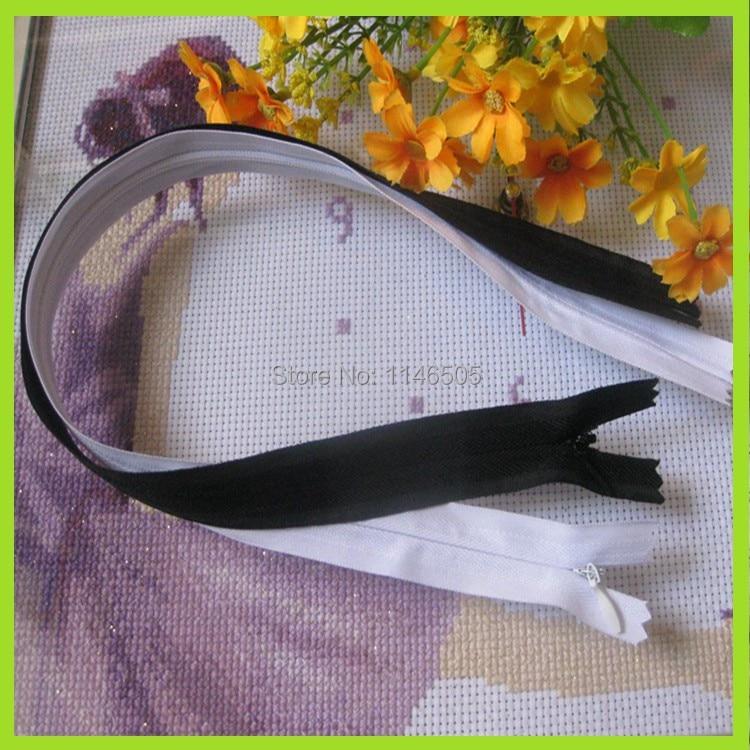Смешанные 2 цвета 20 шт нейлоновая Подушка на молнии невидимая молния ультра длинная 40 см скрытая молния для шитья ручной работы/аксессуары для одежды