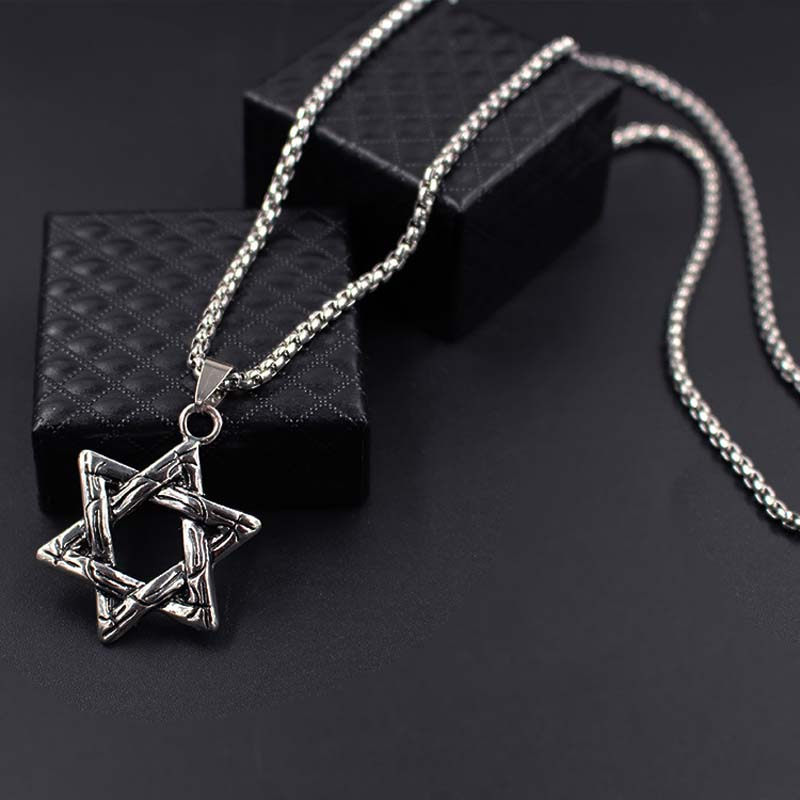 New Jewish Star of David Charm 12 Tribes of Israel Pendant Ethnic Chain Necklace