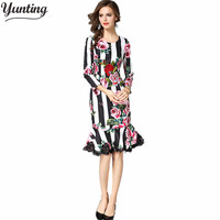 Europe 2017 In Early Spring The New Women S Printing And Tie A Long Sleeved Long