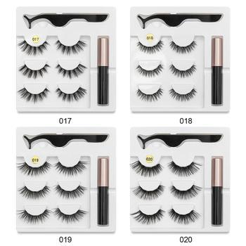 Magnetic Eyelashes Eyeliner Eyelash Curler Set5 Magnet Natural Long Magnetic False Eyelashes With Magnetic Eyeliner SEXYSHEEP Beauty Essentials