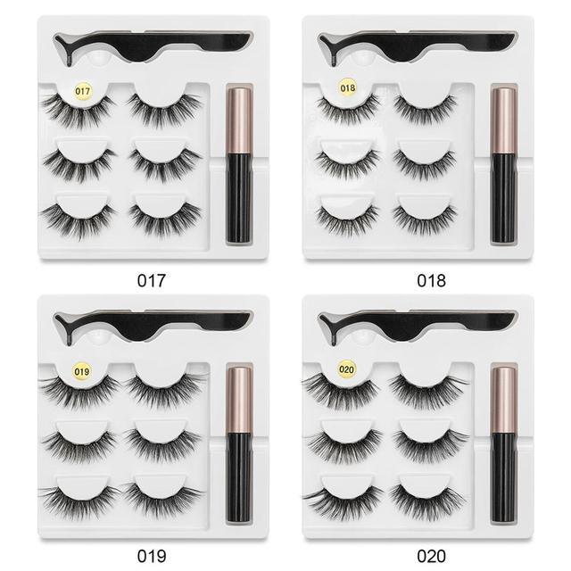 SEXYSHEEP Magnetic Eyelashes Eyeliner Eyelash Curler Set5 Magnet Natural Long Magnetic False Eyelashes With Magnetic Eyeliner 4