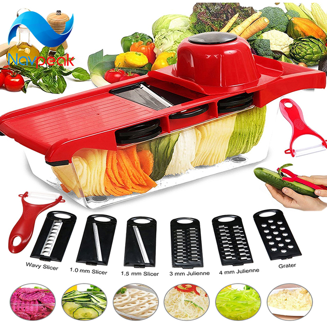 5pcslot Manual Food Shredder Mandolin Slicer Vegetable Fruit Cutter