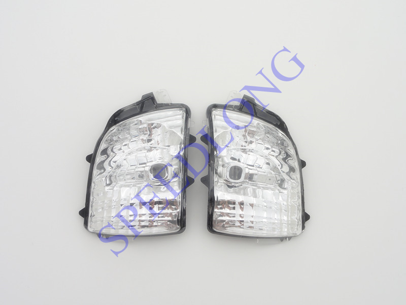 ФОТО 2 Pcs/Pair Without bulbs front mirror repeater indicator lights turning lamps for for VOLVO XC90 2007