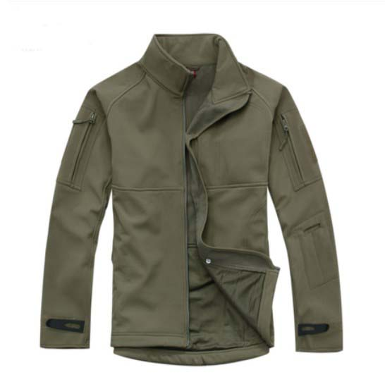 ФОТО Army Green TAD V 4.0 Men Outdoor Hunting Camping Hiking Windproof Polyester W/ fleece Lining Jacket Winter Softshell Warm Coat