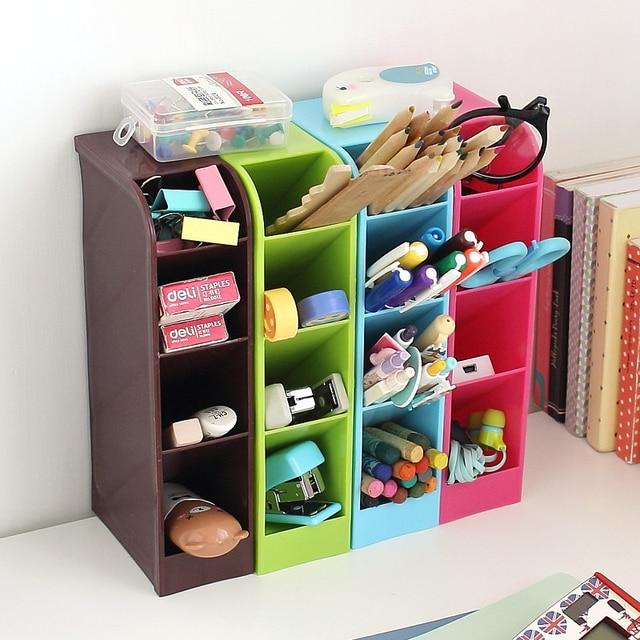 LC 1PC Multifunctional Socks/Underwear Organizer Stationery/Tableware Plastic  Storage Box Cosmetics Makeup Organizer