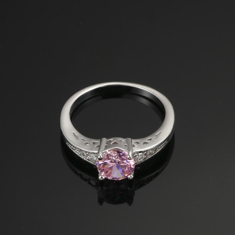 Nette rosafarbene österreichische Kristallringe für Frauen 925 - Modeschmuck - Foto 5