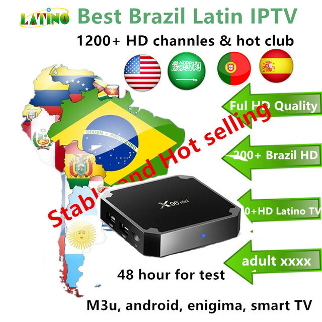 US $43 24 8% OFF|Best 12 month HD Brazil IPTV Latin TV Latino Spain USA  Arabic Portuagal 1200+channels IPTV subscription live TV m3u android -in