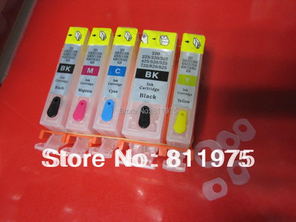 Pour CANON MG5240 MG5140 IP4940 MG5340 IP4840 MX884 IX6540 MX894 MX714 imprimante PGI-425 CLI-426 cartouche d'encre rechargeable avec puce