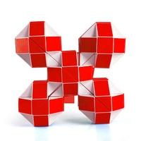 Mini Spiel Kunststoff Magie Schlange Puzzle Spielzeug Hand Spinner Juegos De Magia Gehirn Teaser Cubos Magicos Puzzles Für Kinder 70D0493