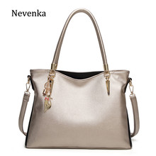 b0f1eda3a7 Nevenka Luxury Handbag Women Leather Shoulder Bags Female Silver Handbag  Girls Large Crossbody Bag Ladies Big