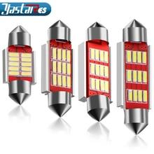 цена на 1pcs 31mm 36mm 39mm 41mm C5W C10W CANBUS NO Error Auto Festoon Light 12 SMD 4014 LED Car Interior Dome Lamp Reading Bulb DC 12V