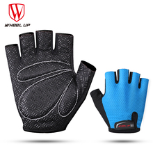 WHEEL UP Half Finger Sumer Breathable Gloves Cycling MTB Mountain Bicycle  Sponge Pad Professional Men