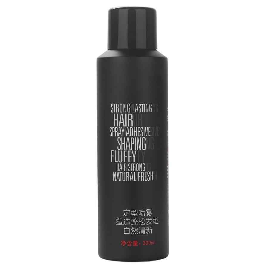 200 ml יוניסקס עיצוב שיער יבש שיער הגדרת בניין תרסיס ג 'ל לטווח ארוך חזק להחזיק שיער ספריי לעיצוב