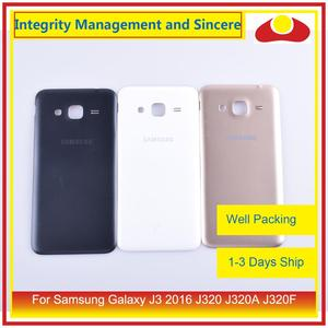 Image 1 - 50Pcs/lot For Samsung Galaxy J3 2016 J320 J320A J320F J320M J320FN Housing Battery Door Rear Back Cover Case Chassis Shell