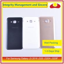 Oryginalny do Samsung Galaxy J3 2016 J320 J320A J320F J320M J320FN obudowa klapki baterii tylna część obudowy obudowa powłoki