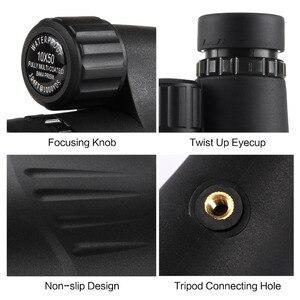 Image 4 - Eyeskey 10x50 wbudowany celownik dalmierz monokularowy teleskop wodoodporny azot Camping polowanie lunety z Bak4 Prism