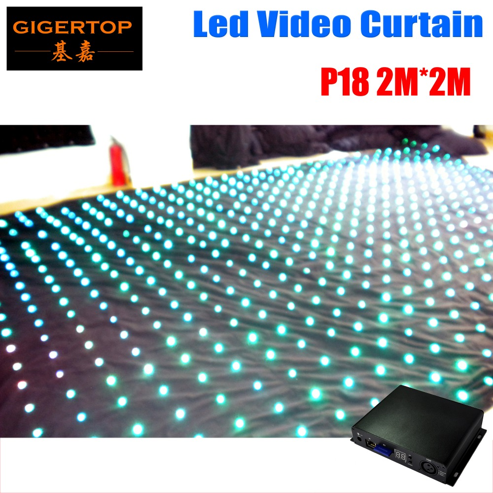 Free Shipping Commercial Lighting Pc Controller Led Soft Curtain Display Led Cortinas Led Video Curtain In Short Supply