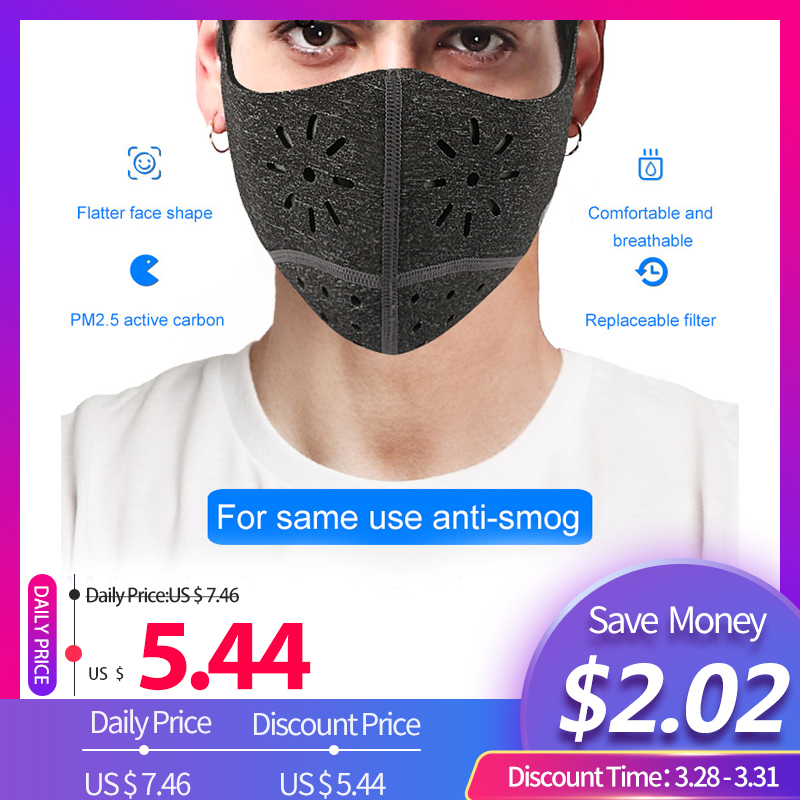 Dashing Pm2.5 Mouth Mask Fashion Solid Anti Haze Dust Mask Nose Filter Windproof Face Muffle Bacteria Flu Fabric Cloth Masks Women's Accessories