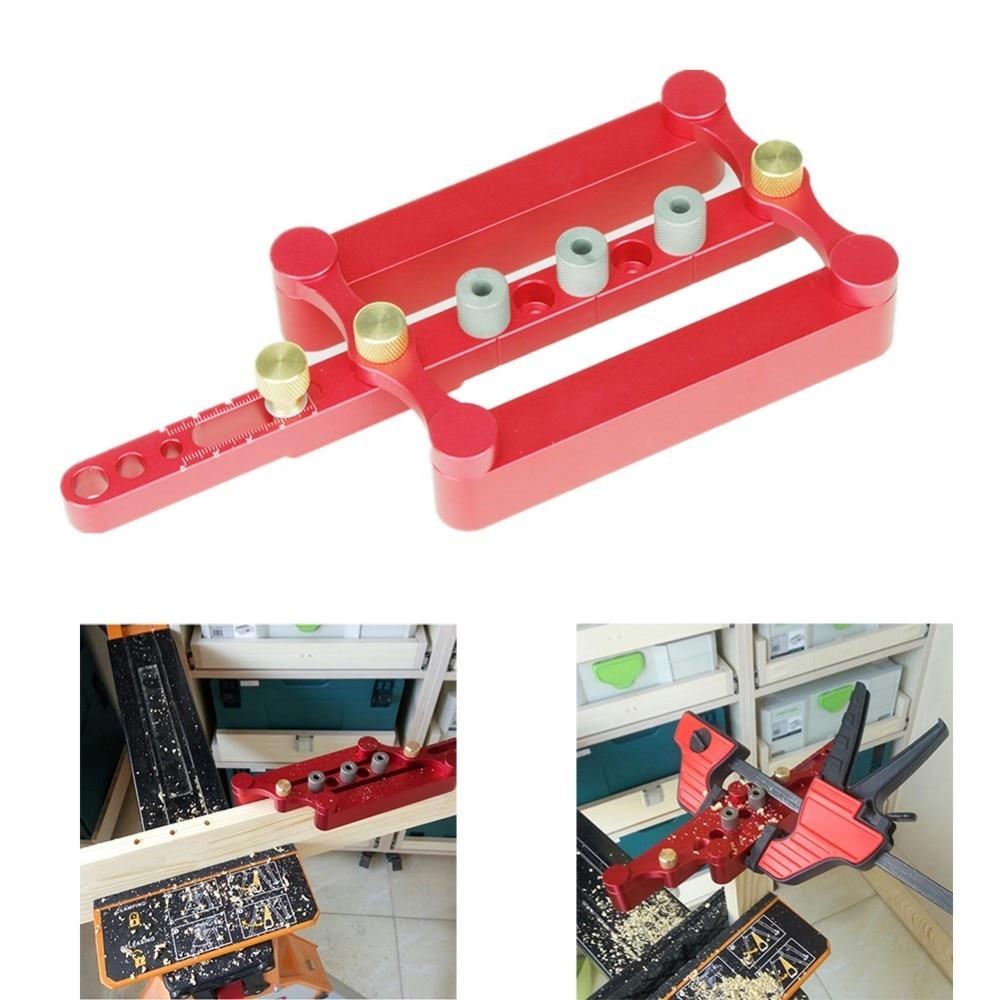 Versione migliorata MT Spine Jig Auto-Centraggio Dowelling Jig Per Il Sistema Metrico Tasselli 6/8/10mm Preciso la lavorazione del legno Utensili di Foratura