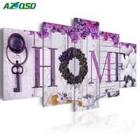 AZQSD Diamond Painting Cross Stitch HOME Handicraft 5D DIY Diamond Embroidery Multi Picture Full Square Wall