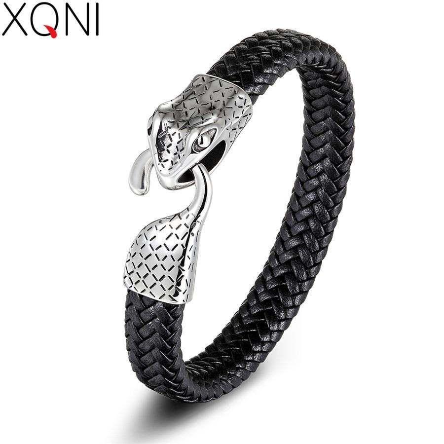 XQNI serpiente patrón de diseño de palanca-cierres de hebilla de ...