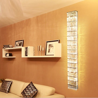 Art deco living room Large Crystal wall light Modern long crystal wall sconce Hotel E14 Led indoor wall lamp Applique Luminaire