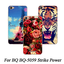 For BQ BQ-5059 Strike Power Case Painting Protective Soft TPU Colored Printed Phone Cases Silicone cover For BQ 5059 back case