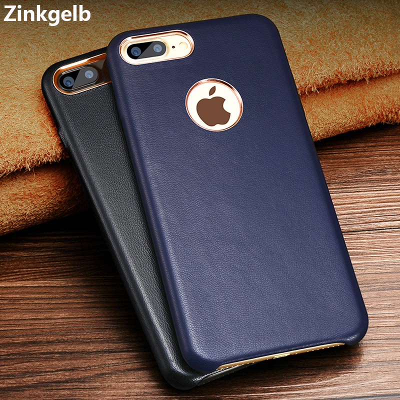 Para Apple iPhone 7 Plus Funda Funda de cuero genuino de lujo Funda - Accesorios y repuestos para celulares