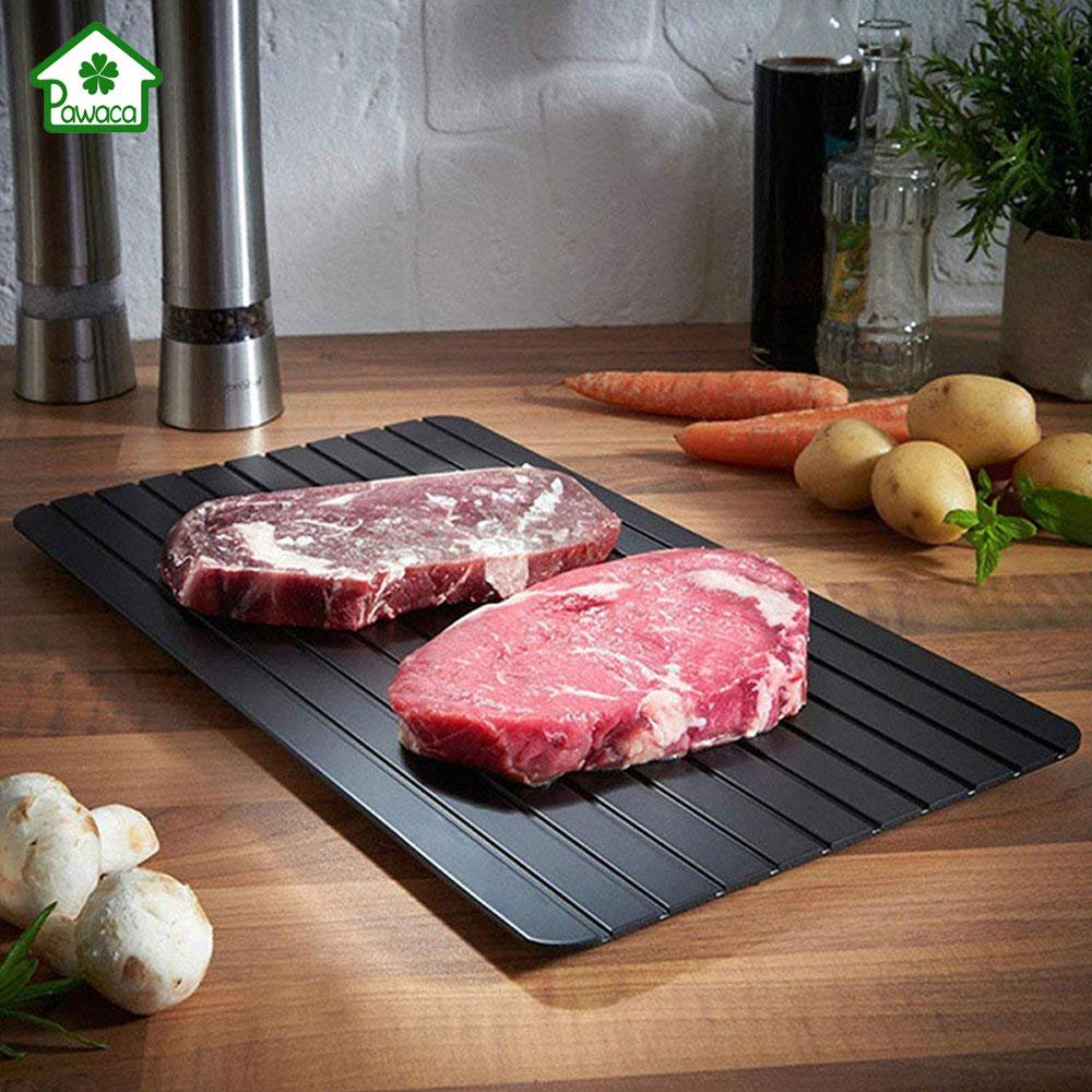 Placa de descongelación rápida de 2 en 1 bandeja de descongelación de carne bandeja de deshielo de seguridad rápida Placa de descongelación rápida para herramienta de cocina de carne de alimentos congelados