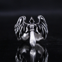 Игры Темно Серафима Тираэль Архангел кольцо s925 личность подарок ювелирные изделия для Для мужчин Для женщин Маскарадный костюм аксессуары