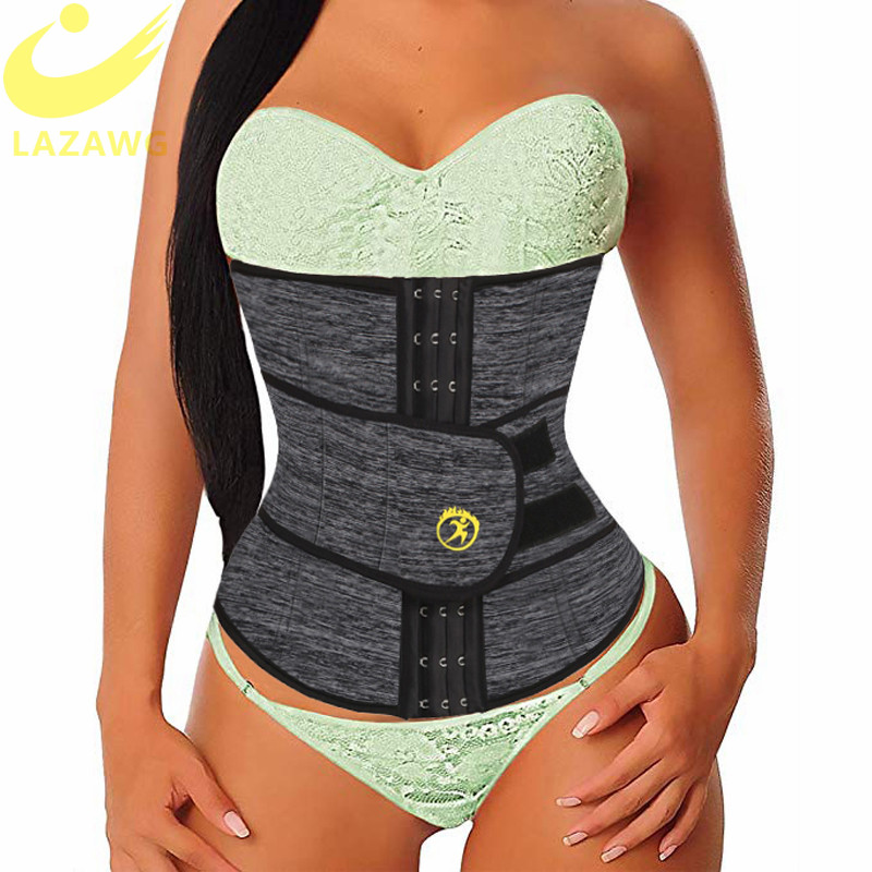 LAZAWG Women Waist Trainer Neoprene Belt Weight Loss Cincher Body Shaper Tummy Control Strap Slimming Sweat Fat Burning Girdle-in Waist Cinchers from Underwear & Sleepwears