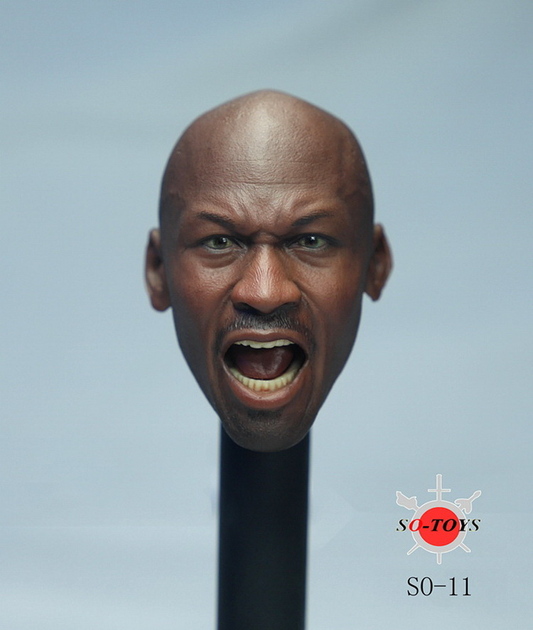 1/6 scale figure doll head shape for 12 Action figure doll accessories basketball star angry Michael head carved 16B2631 1 6 scale figure doll head guardians of the galaxy star lord peter quill chris pratt head doll accessories for diy figure doll